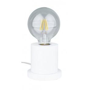 TASSE lampe de table 1XE27 60W diam 10cm H10cm hetre couleur blanc