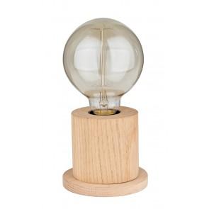TASSE lampe de table 1XE27 60W diam 10cm H10cm chêne huilé