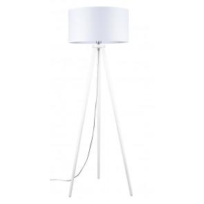 ennie lampadaire trepied haut160cm e27 60w blanc abatjour blanc britop 74101002