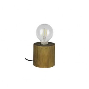 lampe à poser bois E27 maxi 25w pin teinté Haut 10cm TRABO TABLE