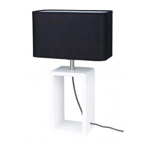 CADRE TALL lampe de table blanc abat jour noir 1XE27 25W haut 48cm