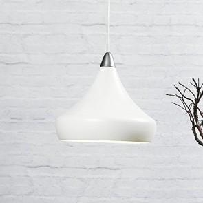 suspension métal blanc diam 30cm e27 60w maxi haut cable 2.5m textile Blanc fascino nordlux