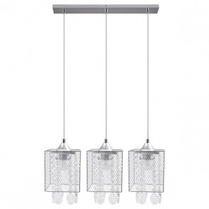 GRACJA barre de 3 suspensions 3XE27 60W chrome long 65cm