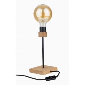 CHANDELLE lampe de table E27 1x15W chêne huilé sans ampoule