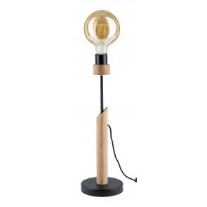 SOLANGE lampe de table chene huilé E27 60W maxi haut 50cm