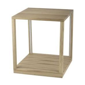sellette table lumineuse led 24v 27w bois chene huilé 2520 lumens avec inter à variateur hauteur 52cm TAVOLI