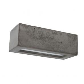 applique béton rectangulaire gris foncé e27 max 40w 31cmx13.5cmx10.5cm  BLOCK