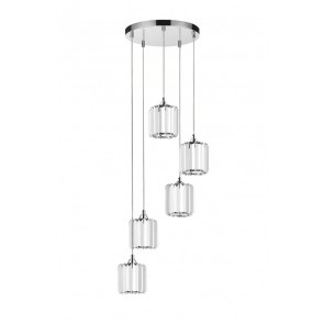 MERILO plafonnier suspension 5 lumieres 5x60w E27