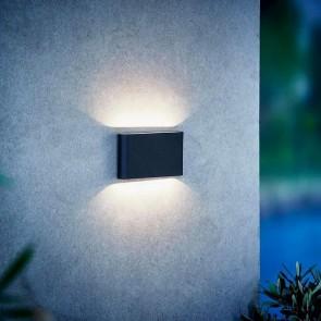 Applique murale KINVER noire LED intégré inclue Nordlux 2x6w 570 lumens éclairage haut et bas