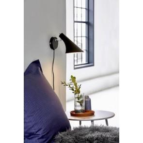 VANILA - Applique murale eclairage  noir mat + interrupteur show