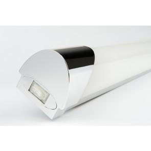 Applique spéciale salle de bain IP44 classe II avec interrupteur et tube T5 14W haut rendement 1400 lumens 4000k idéal dessus de miroir modèle Liam Cali