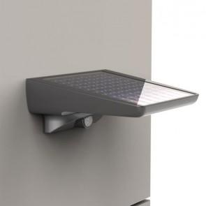 applique Solaire Led avec détecteur anthracite IP44 CLIII 300 lumens led blanc reflecteur chrome APS300 XANLITE
