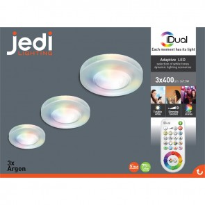 packaging spot argon rgb led idual jedi