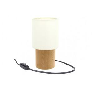 MINNIE lampe de table avec abat jour 1xE27 max 25W Bois bouleau abat jour textile blanc