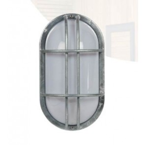 BLOCK Applique Plafonnier extérieur acier galvanisée E27 60W haute résistance