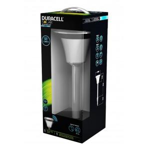 Lampe solaire extérieure detecteur de mouvement 10 à 90 lumens Duracell GL013NDU packaging