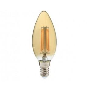 EDDY ampoule C35 filament led verre Ambré douille E14 350 lumens 4W
