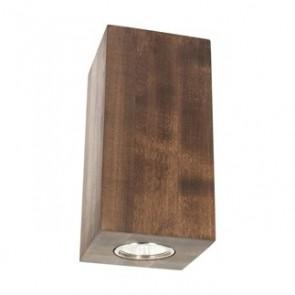wooddream-applique-2-lumieres-up-et-down-2x5w-noyer-350-lm-2700k
