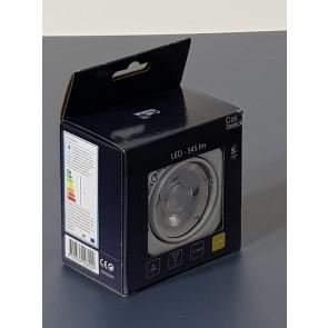 spot encastré metal blanc orientable kit de 1 spot gu10 led 5W inclu 345 lumens 2700k CALI PRESS METAL