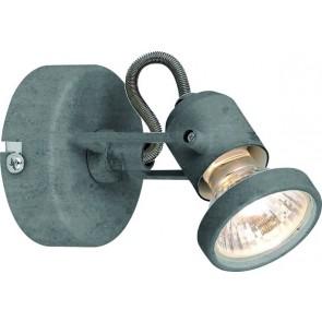 CONCRETO spot patère  incl. LED GU10 4,5W métal couleur de béton 360 lumens