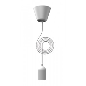 FUNK suspension cordon tissu E27 Blanc E27 25W maxi nordlux