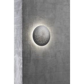 Applique murale extérieure ronde diam 19cm Alu LED intégré inclue 6w  3000k 170 lumens éclairage ambiance auréole halo de lumiere autour HUNT