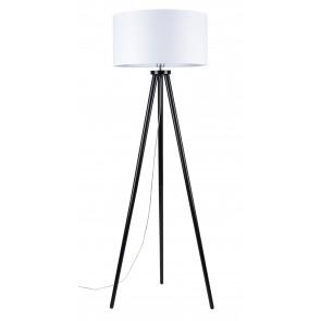 ENNIE lampadaire trepied noir abatjour blanc e27 60w 74101004