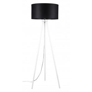 ENNIE lampadaire trepied e27 60w haut 160cm pied blanc abatjour noir 74103002