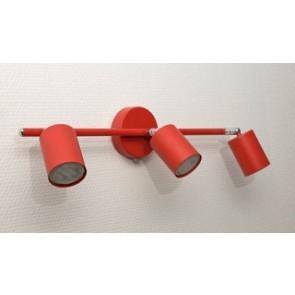 luminaire barre 3 spot led rouge