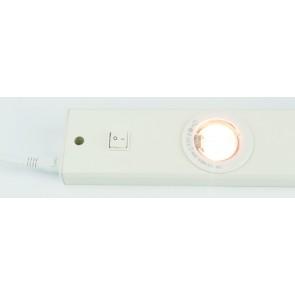 Réglette cuisine extra plate Blanc 2 X 20 W + interrupteur 600 lumens Modèle flat halo marque Cali