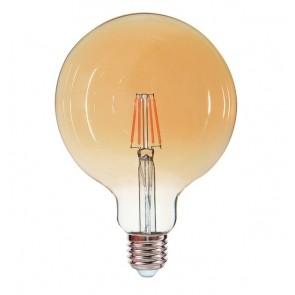 EDDY ampoule G125 filament led ambré douille E27 540 lumens 6W