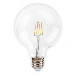 KLARA ampoule G125 filament led claire douille E27 600 lumens 6W