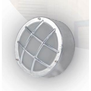 HUBLOT Applique Plafonnier extérieur acier galvanisée E27 60W haute résistance