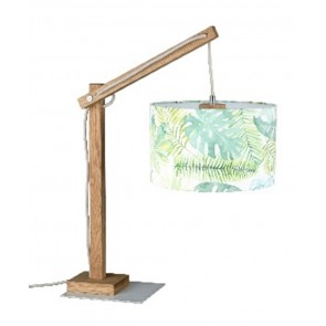 JEUNESSE JUNGLE lampe à poser E27 40W haut 57cm abat jour velours JUNGLE diam 22cm