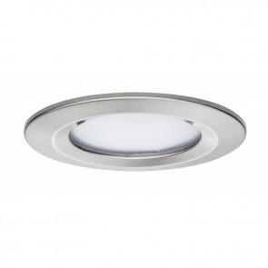 Kit de 1 spot encastré LED Coin Slim - Acier Brossé - 6.8W - 633LM  - 2700K - IP44 - dimmable - Paulmann