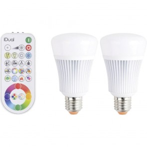 kit 2 ampoules led 11w rgb + remote control