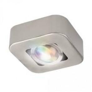 Plafonnier spot KRYPTON RGB 345 lumens 2700k Idual métal brushed nickel avec télécommande