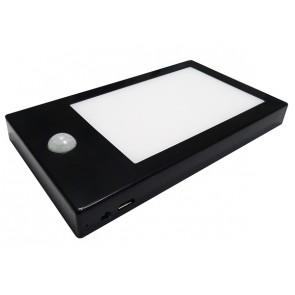 LISA LTH NOIRE éclairage pour meuble avec détecteur rechargeable autonome Led 110 Lumen