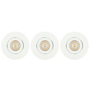 Kit 3 Spot Encastré Orientable PRIMIA Led intégré 4.2W Blanc
