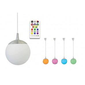Suspension LUNA 5.5 W blanc chaud + RGB télécommandé
