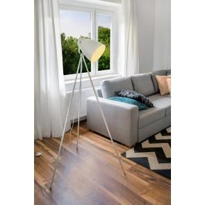 MARLA lampadaire trépied blanc haut 154cm E27 60W maxi