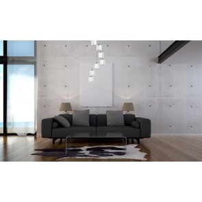 MERILO plafonnier suspension 7 lumieres 7x60w E27