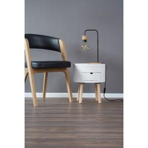 MURIEL lampe de table E27 60w haut 43cm bois chene huilé