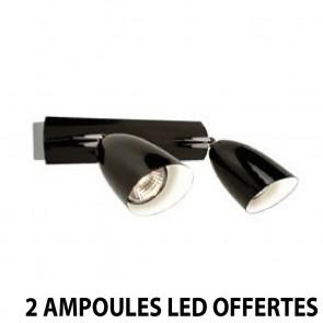 Reglette EINSTEIN 2 Spot LED 2 x 35w Noir