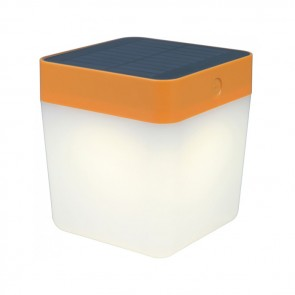 Lampe de table CUBE solaire orange