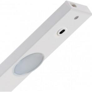 réglette LED alu blanc sous meuble avec détecteur 2x3w L55 cm 450 lumens 3000k PEPPA 60