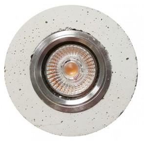 spot encastré béton blanc cali gu10 led 5W inclu 320 lumens 2700k REVE DE BETON