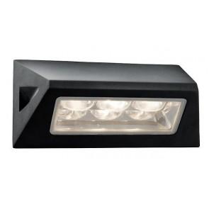 LED outdoor Applique Horizontale 21cm - lampe murale extérieure noire