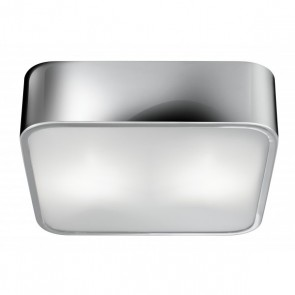 Plafonnier FLUSH Chrome/ verre 2 x 40W max searchlight