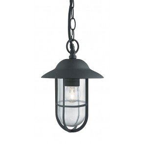 WELL GLASS Lanterne extérieure IP44 noir / argent